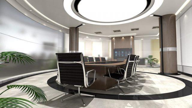 stół konferencyjny z materiałów ekologicznych